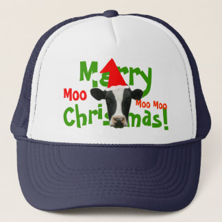 Merry Christmas Santa Cow Truckers Hat/ Cap