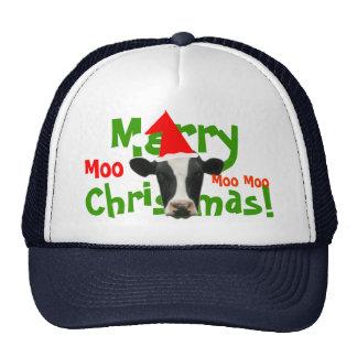 Merry Christmas Santa Cow Truckers Hat/ Cap Trucker Hat