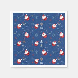 Merry Christmas Santa Dancing In The Snow Paper Napkin