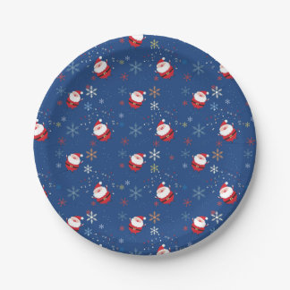 Merry Christmas Santa Dancing In The Snow Paper Plate