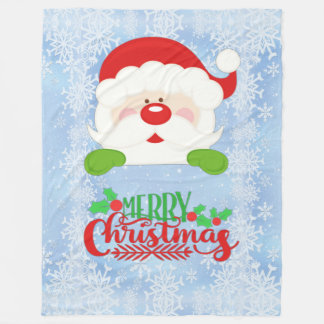 Merry Christmas Santa Fleece Blanket