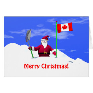 Merry Christmas Santa in Canada Card