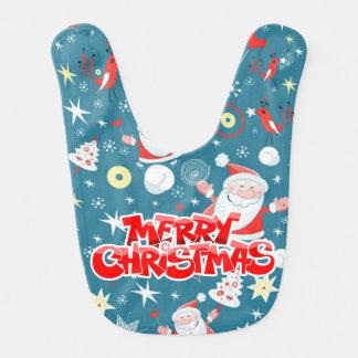 Merry Christmas Santa Love Bib