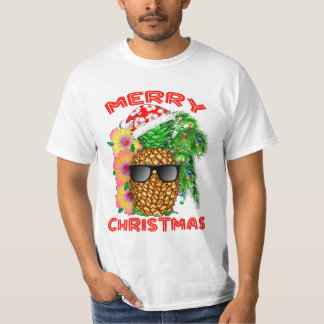 Merry Christmas Santa Pineapple T-Shirt