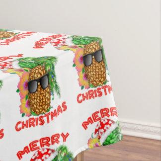 Merry Christmas Santa Pineapple Tablecloth
