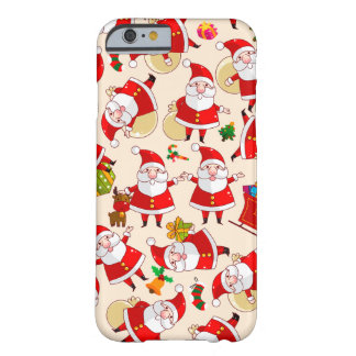 Merry Christmas Santa Red Gold Green iPhone 6 Case Barely There iPhone 6 Case