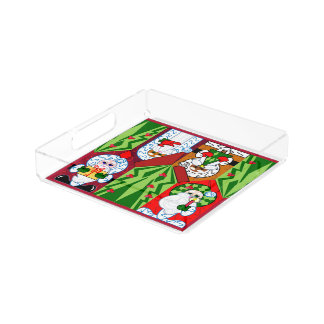 Merry Christmas Santa Serving Tray