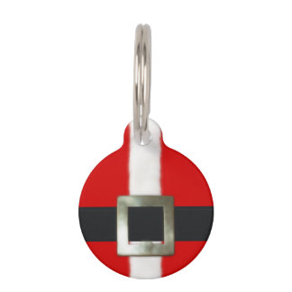 Merry Christmas Santa Suit Pet ID Tag