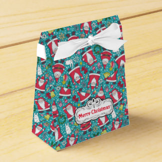 Merry Christmas Santa Tent Favor Box