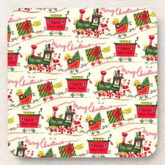 Merry Christmas Santa Train Party Coaster