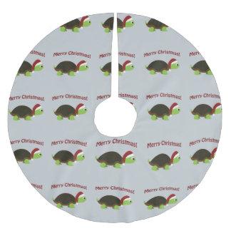 Merry Christmas! Santa Turtle Brushed Polyester Tree Skirt