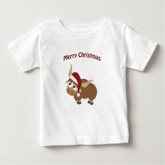 Merry Christmas Santa Yak Baby T-Shirt