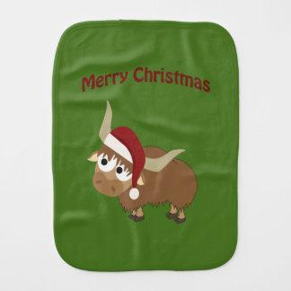 Merry Christmas Santa Yak Burp Cloth