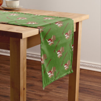 Merry Christmas Santa Yak Short Table Runner