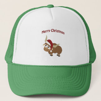 Merry Christmas Santa Yak Trucker Hat