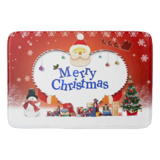 Merry Christmas Santa's Love Bath Mat