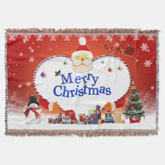 Merry Christmas Santa's Love Throw Blanket