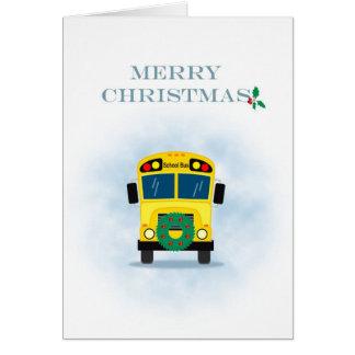 Merry Christmas School Bus Driver Card
