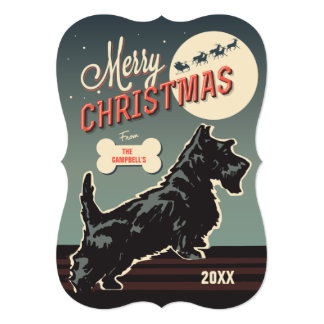 Merry Christmas Scottie Card