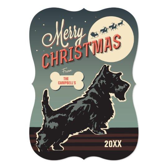 Merry Christmas Scottie Card
