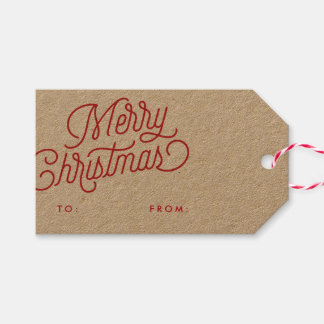 Merry Christmas Script Holiday Gift Tag Pack Of Gift Tags