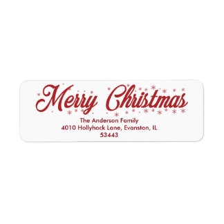 Merry Christmas - Script Labels