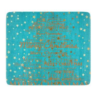 Merry Christmas Season Cutting Board