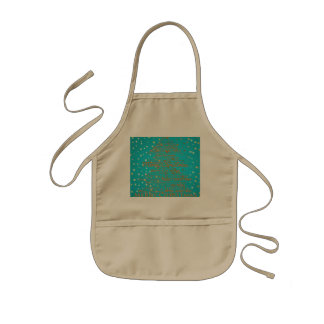 Merry Christmas Season Kids Apron