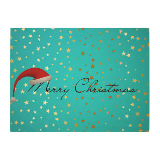 Merry Christmas Season Wood Print