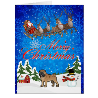 Merry Christmas Shar Pei Card