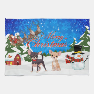 Merry Christmas Shar Pei Kitchen Towel