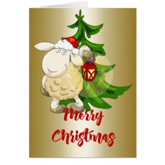 Merry Christmas Sheep Card