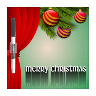 """MERRY CHRISTMAS"" SIGN DRY ERASE BOARD"