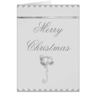 Merry Christmas Silver Bells Greeting Card