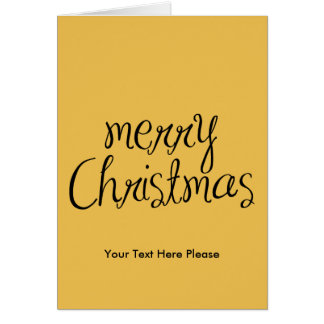 Merry Christmas - simple Handwritten Text Design Greeting Card