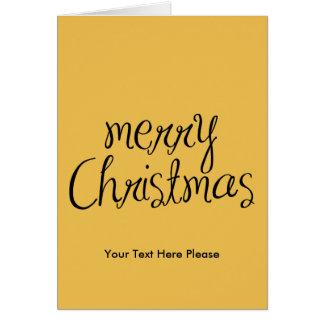 Merry Christmas - simple Handwritten Text Design Greeting Card