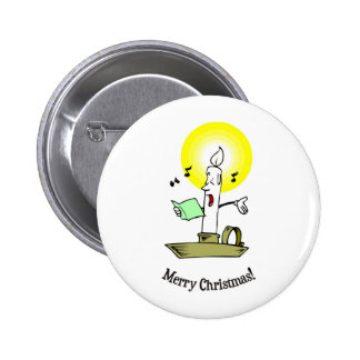 Merry Christmas, Singing candle making light 2 Inch Round Button