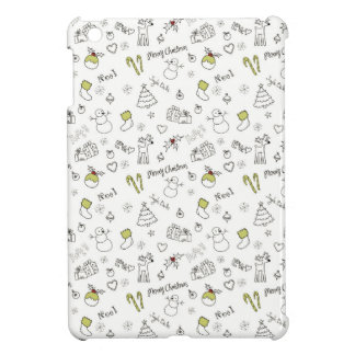 Merry Christmas Sketches Pattern Case For The iPad Mini