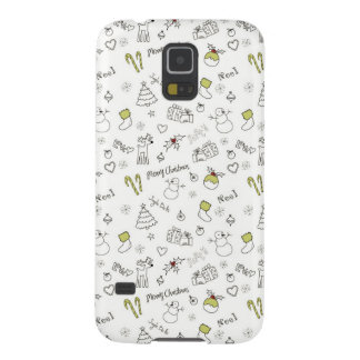 Merry Christmas Sketches Pattern Galaxy S5 Covers