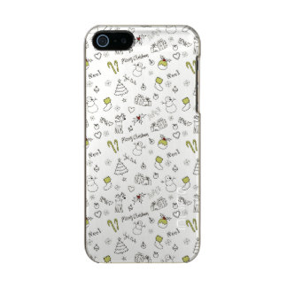 Merry Christmas Sketches Pattern Incipio Feather® Shine iPhone 5 Case