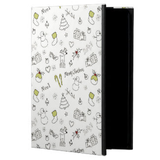 Merry Christmas Sketches Pattern iPad Air Covers