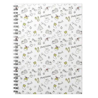 Merry Christmas Sketches Pattern Notebooks