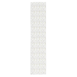 Merry Christmas Sketches Pattern Short Table Runner