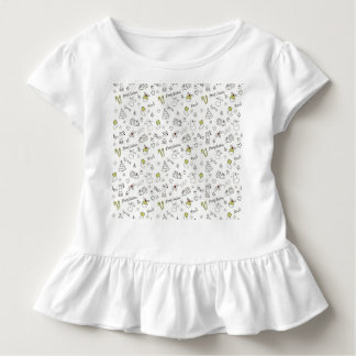 Merry Christmas Sketches Pattern Toddler T-shirt