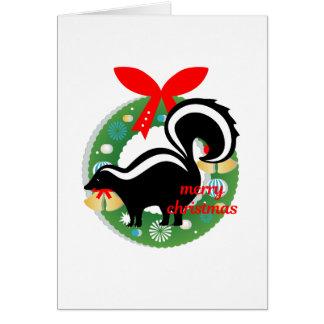 merry christmas skunk card