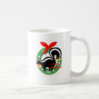merry christmas skunk coffee mug