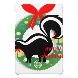 merry christmas skunk cover for the iPad mini
