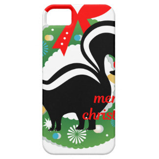 merry christmas skunk iPhone 5 covers