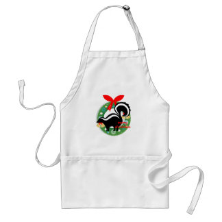 merry christmas skunk standard apron