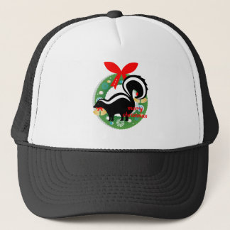 merry christmas skunk trucker hat